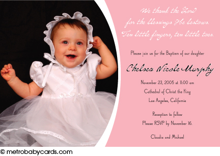 Baptismal invitation card template orderecigsjuicefo baptism and christening invitations blessings from above pink wedding invitations stopboris Gallery
